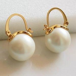 Kate Spade earrings gold pearl earrings